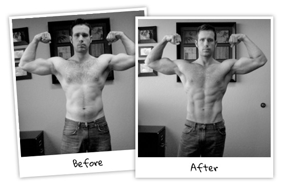 Visual Impact Muscle Building Before and After