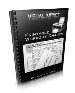 Visual Impact Muscle Building Printable Charts